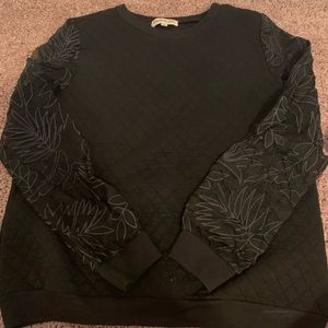 LF sweater with sheer sleeves